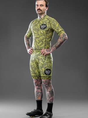 Hunter Bros Cycling Busy Leopard Short Sleeve Jersey