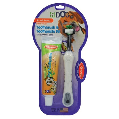 Triple Pet Ez-Dog Dental Kit Toothbrush & Paste for Small Breed Dogs