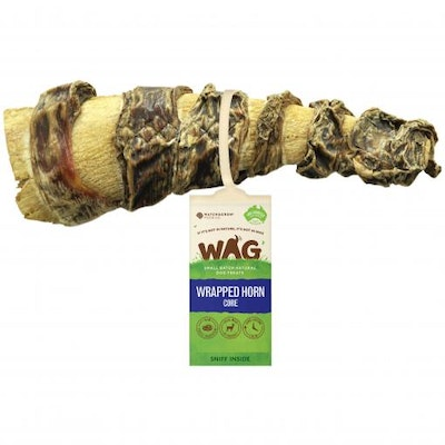 WAG Wrapped Horn Core Dog Treat