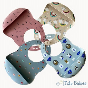 Tidy Babies  Baby Silicone Feeding Bib With Cartoon Print