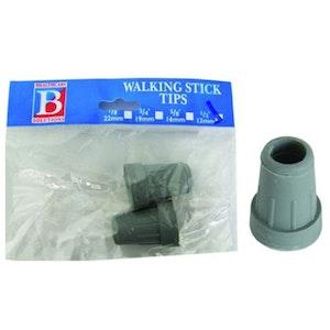 """Bemed Walking Stick Tips Grey 1/2"""" 13mm"""
