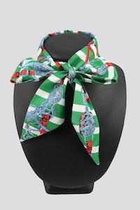 Hitchley & Harrow NT23 Green Print Neck Tie