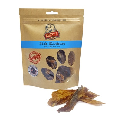 Bugsy's Pet Supplies HEALTHY SNACKS | Australian Mackeral Fish Slithers