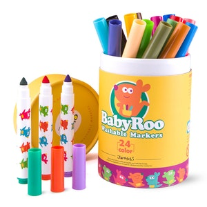 JarMelo WASHABLE MARKERS -BABY ROO 24 COLORS