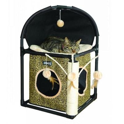 Zeez Feline Cube Fun House for Cats 40 x 40 x 73cm