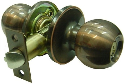 Brava Urban BRT3900B series domestic grade entrance knob set in antique copper finish