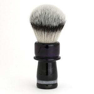 Dark Purple and Black Handcrafted Shaving Brush