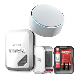 Minut Smart Alarm and ePod Emergency Kit Holiday Home Safety Pack