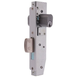 Brava Metro 5090-3 commercial shopfront double cylinder dead lock with a 22mm bolt in satin chrome plate finish