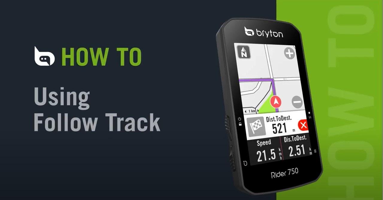 Bryton Rider 750   Using Follow Track