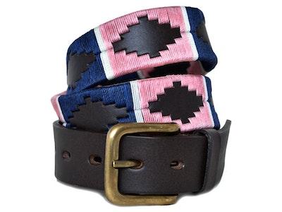 Pioneros Belt Pink, Navy, White Stripe 110