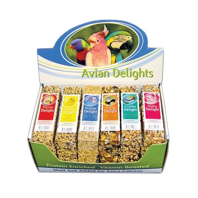 PASSWELL Mixed Of 6 Avian Delights Fruity Nutty Combo Treats 75g 24 Pack