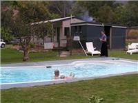 34 degs in the woodfired Lakeside swimming pool
