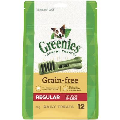 Greenies Grain Free Regular Dogs Dental Treats 11-22kg 340g