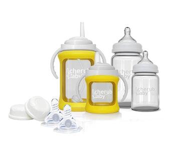 Glass Baby Bottles Starter Kit - Yellow