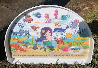 BibiLand Mermaid BibiKids Non Slip Interactive Toddler Tray