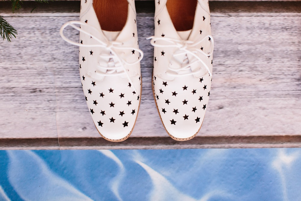 LENZO Christmas Bared Footwear Star Shoes
