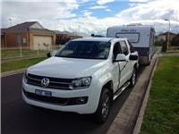 VW Amarok with GSA Blue Sky caravan