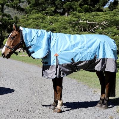 Capriole Equestrian 1200D Aqua & Grey Waterproof Combo – with 250g Filling.