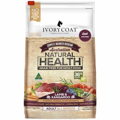 IVORY COAT Grain Free Adult Lamb & Kangaroo Dry Dog Food