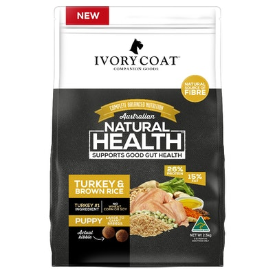IVORY COAT Large Breed Puppy Turkey & Brown Rice Dry Dog Food