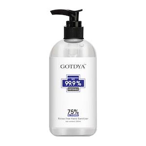 GOTDYA 300ml 75% Alcohol Antibacterial Hand Sanitizer Gel Kills 99.9% Germs Rinse-Free Pump Bottle