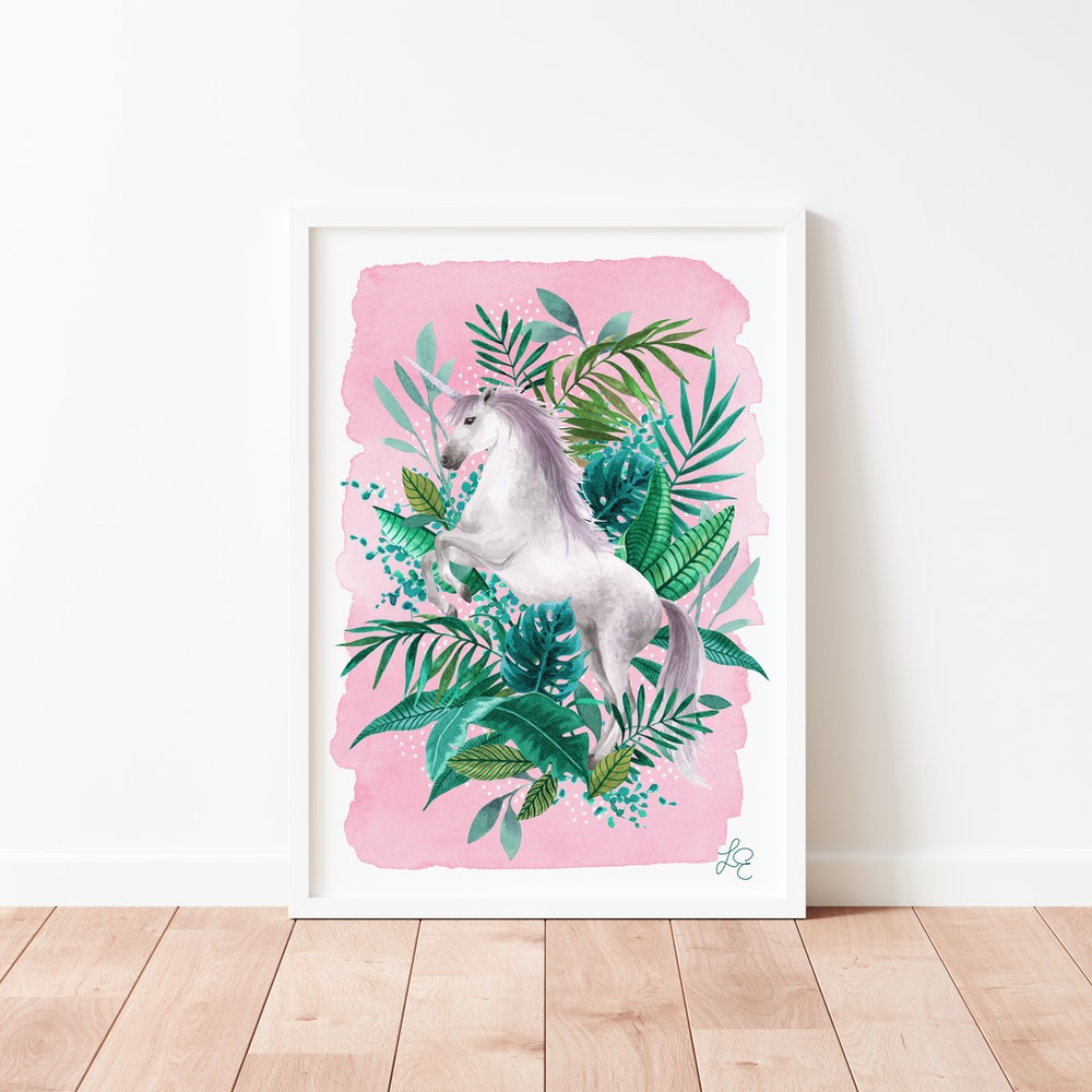 Laura Elizabeth Illustrations Unicorn Fine Art Print