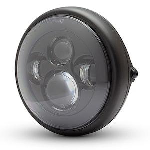 "7.7"" Shorty Metal LED Headlight - Matte Black"