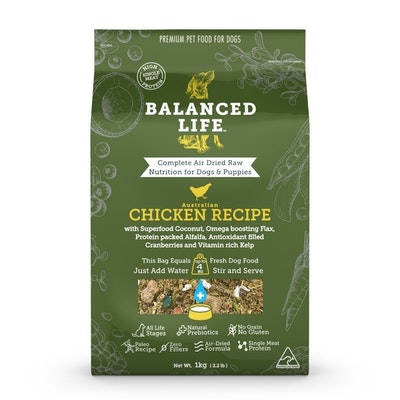 BALANCED LIFE Chicken Air Dried Dog Food 1kg