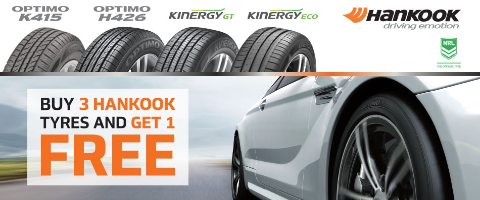 Hankook Buy 3 Get 1 Free Promotion