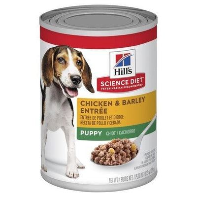 Hills Hill's Science Diet Puppy Chicken & Barley Entrée Canned Dog Food 12x370g