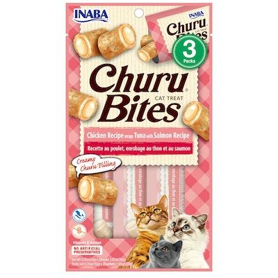 INABA Churu Bites Cat Treat Tuna w/ Salmon 6 x 30g