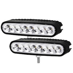 LIGHTFOX Pair 7 inch CREE LED Light Bar Spot Flood Work Driving Reverse Lamp 12V 24V
