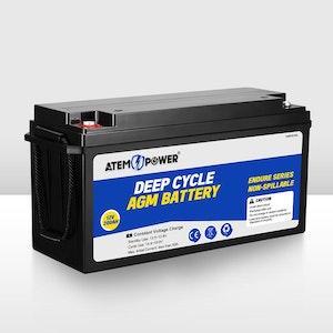 200Ah 12V AGM Deep Cycle Battery Portable Sealed Marine Solar SLA 4WD