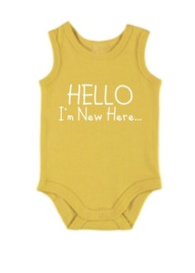 Hello I'm New Here Yellow Singlet