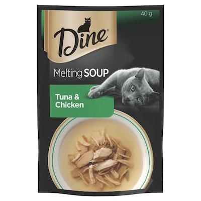 Dine Melting Soup Cat Food Tuna & Chicken 40g x 12