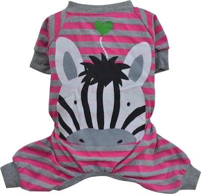 DoggyDolly THICK DOG - Pink Zebra Pyjamas