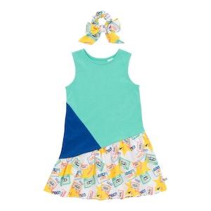 OETEO Australia Mixtape Colourblock Girl Dress