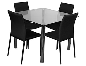 Bt sven 5pc glass dining set dining settings for sale in for Outdoor furniture yagoona