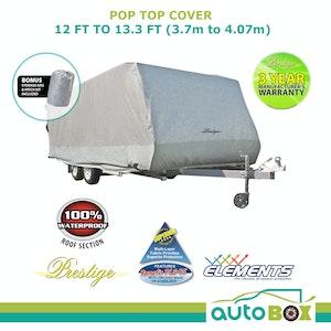 Prestige Pop Top Caravan Cover 3.7m - 4.06m 12ft 13ft Waterproof Rear Side Door