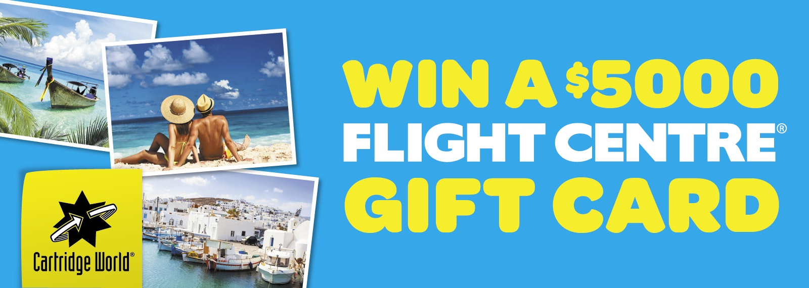 Enter The Draw To Win A $5000 Flight Centre Gift Card