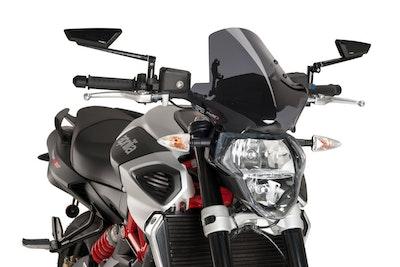 Puig Naked New Generation Sport Windshield To Suit Aprilia Shiver 750/950 (Dark Smoke)