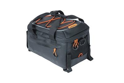 Basil Miles Tarpaulin Bicycle Trunkbag Black Orange 7L