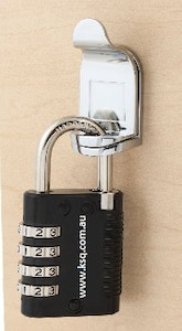 KSQ Combination Padlock with Master Override Key and Code Discovery feature