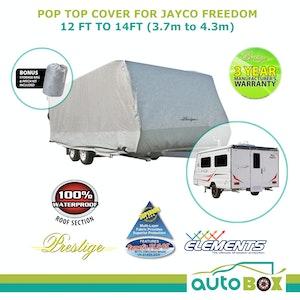 Prestige Pop Top Caravan Cover suits Jayco Freedom Waterproof Rear Side Door