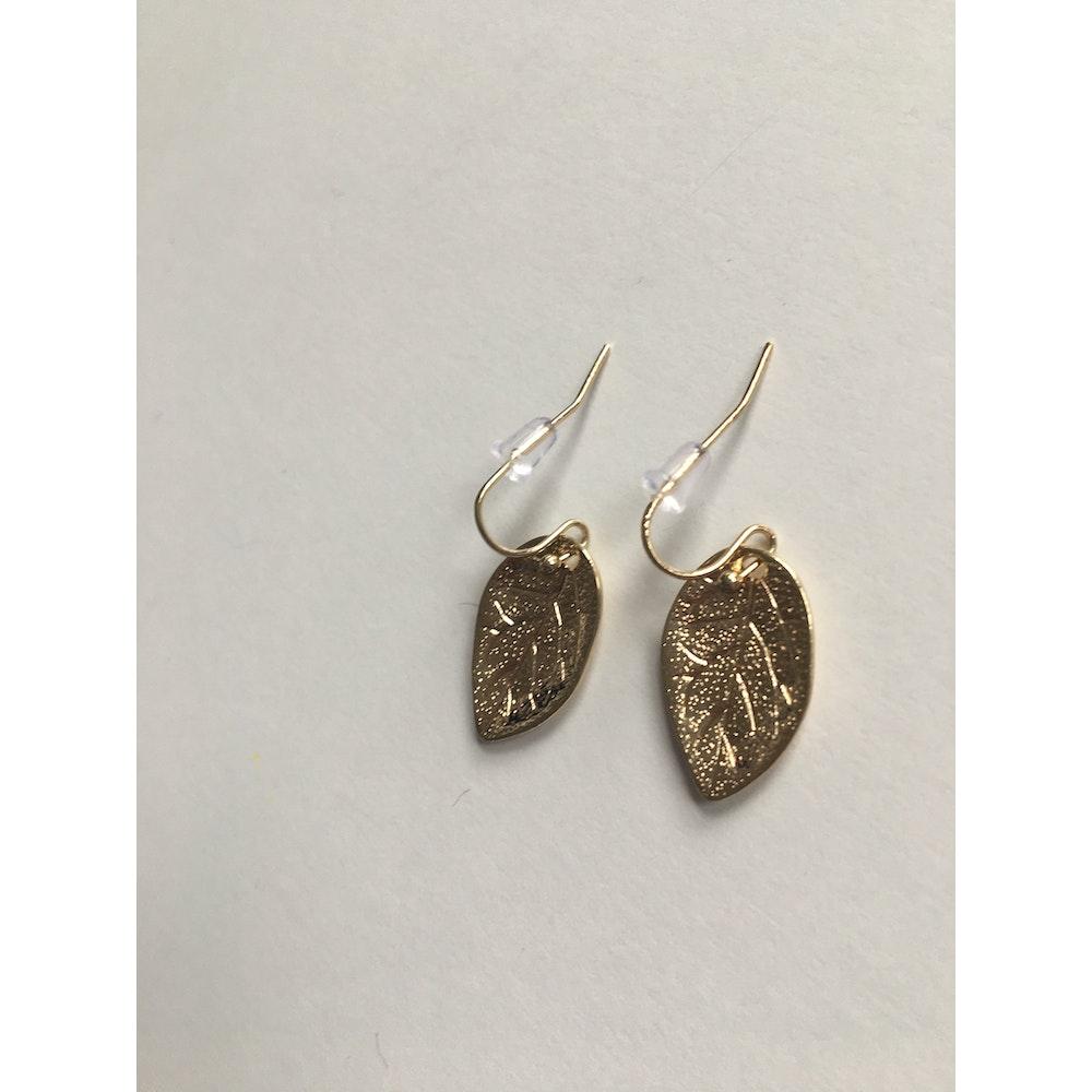 One of a Kind Club Gold Leaf Shaped Earrings