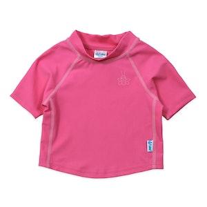 i play. Short Sleeve Rashguard Shirt-Hot Pink