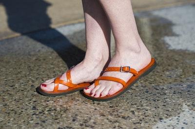 Aditi - Adjustable Leather Sandal, Strap Sandal, Choice of Size & Colour, Pointed or Round Toe Shape, Women's Flip-flop Slide Sandal