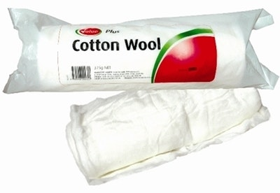 Value Plus Soft Absorbent Cotton Wool Roll 375g
