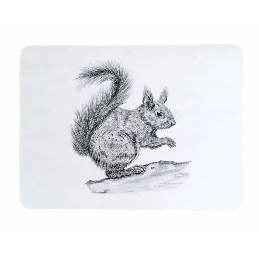 Bruce Bramfield Squirrel Placemats - Set Of Two